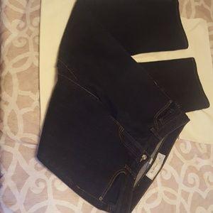 Ann Taylor Loft Dark Indigo Wash Straight Fit Jean